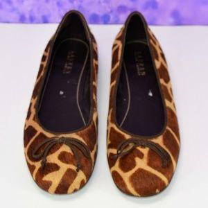 Lauren Ralph Lauren Calf Hair Flats Giraffe Print
